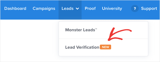 Regístrese para la verificación de clientes potenciales
