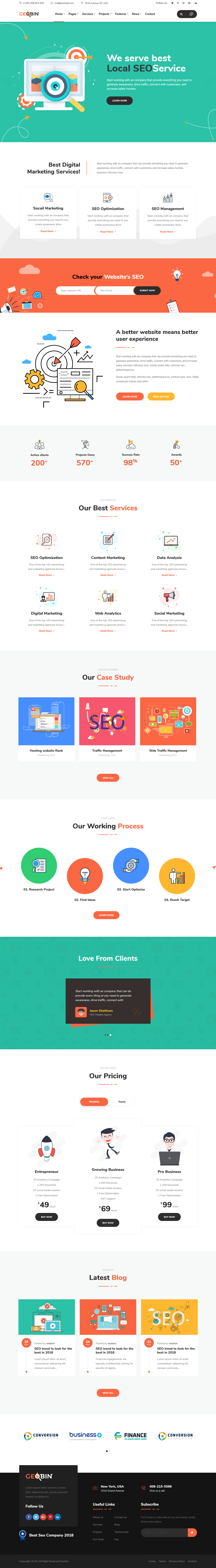 GeoBin - Mejor tema de WordPress para agencias de SEO premium