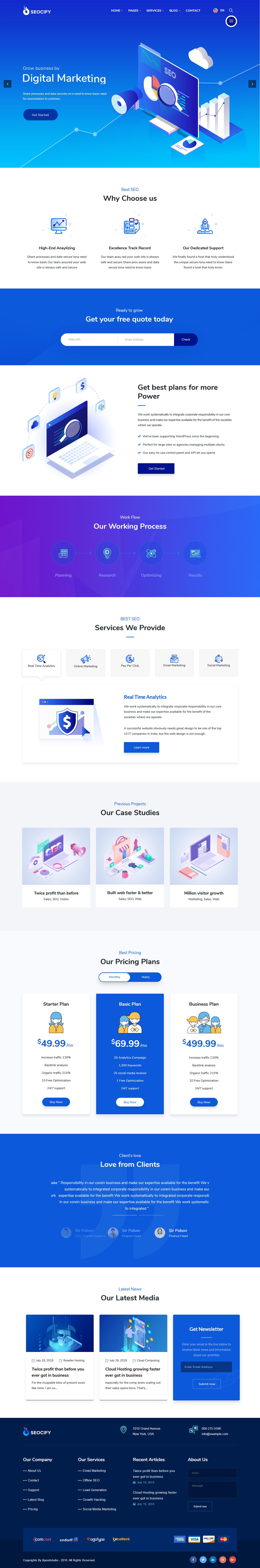Seocify - Mejor tema de WordPress para agencias de SEO premium
