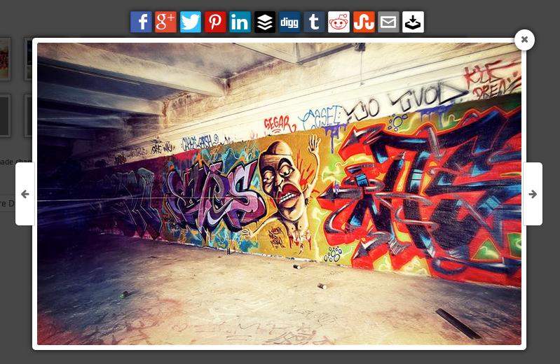 Ejemplo de iconos sociales de Foobox
