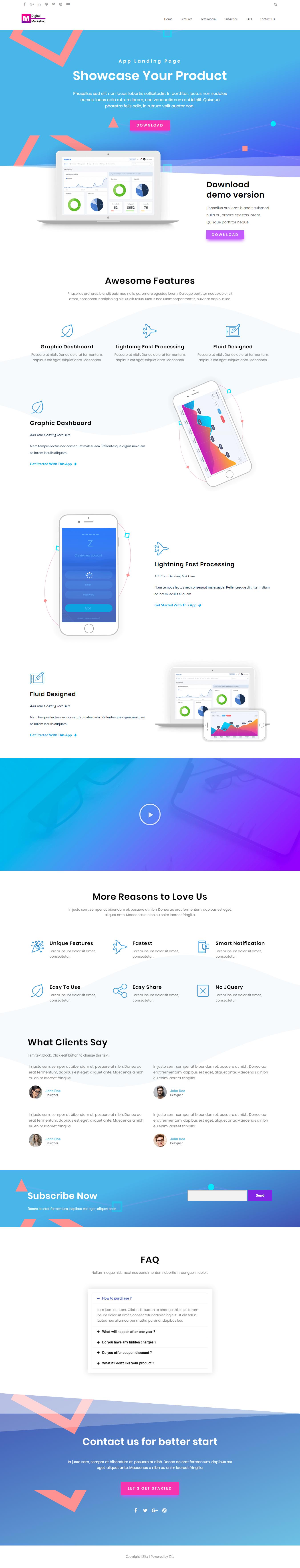 Zita - Mejor tema WordPress gratuito para agencias de SEO