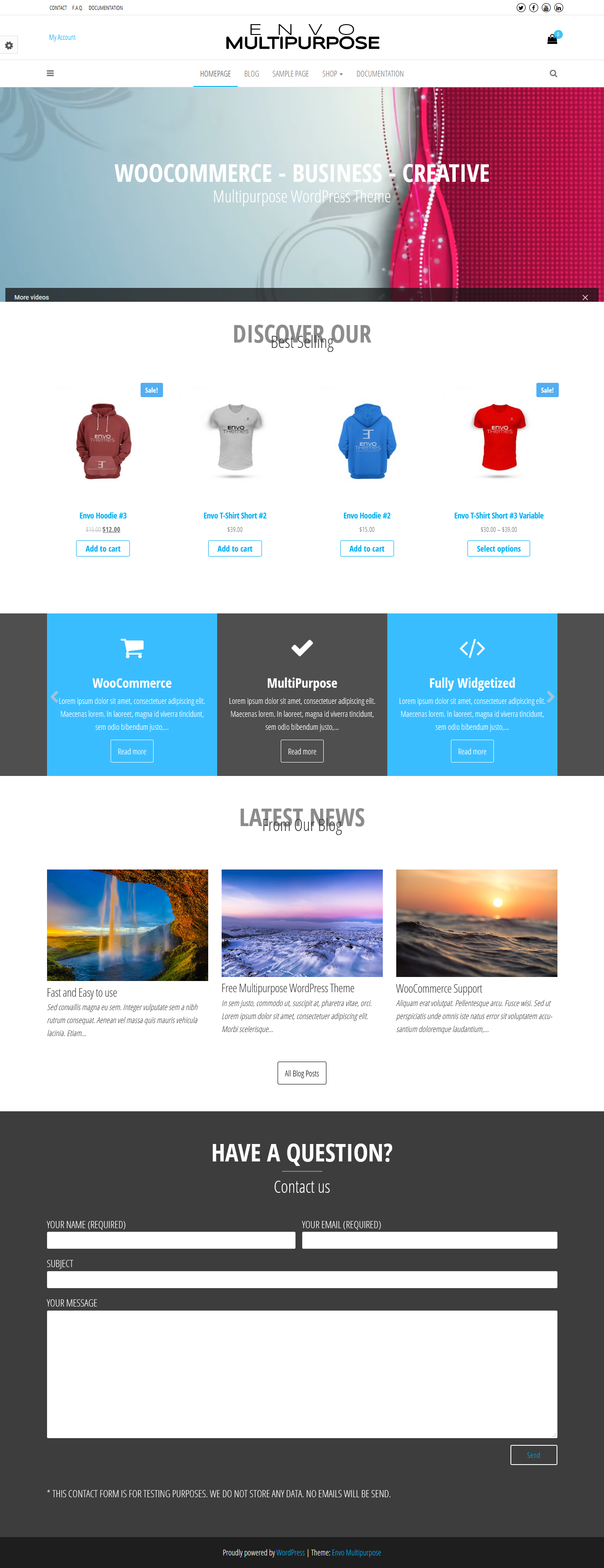 Envo Multipurpose: el mejor tema gratuito de WordPress para agencias de SEO