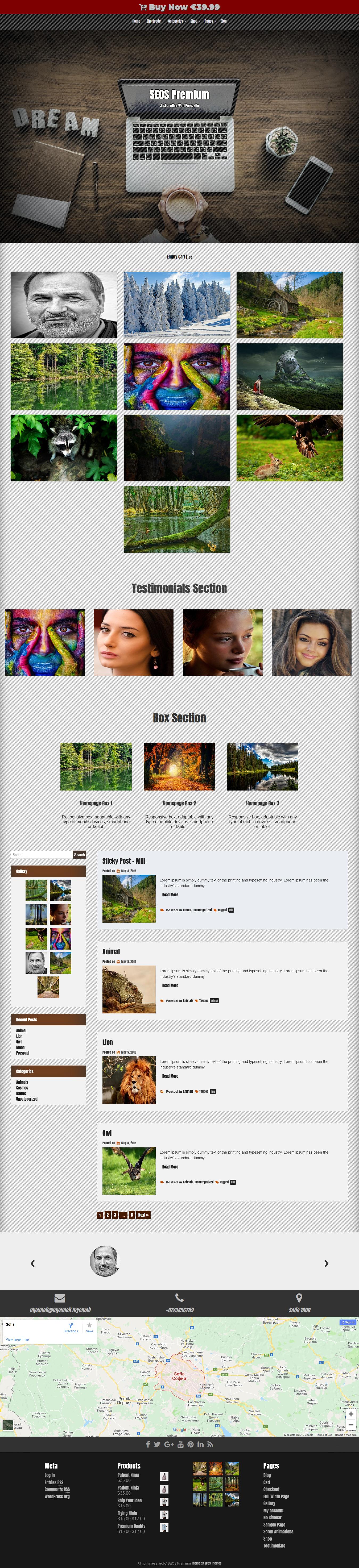 SEOS - Mejor tema WordPress gratuito para agencias de SEO