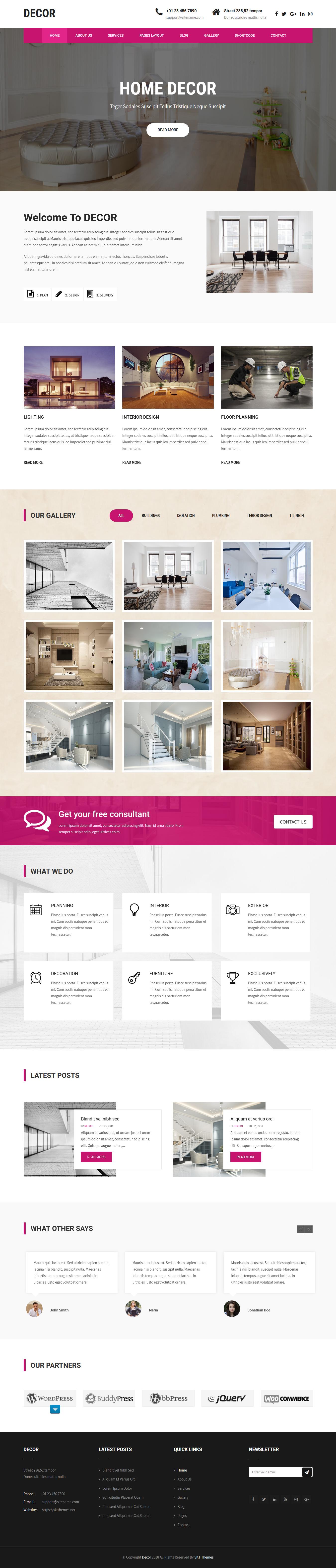 Decor Lite - El mejor tema gratuito de WordPress para arquitectura