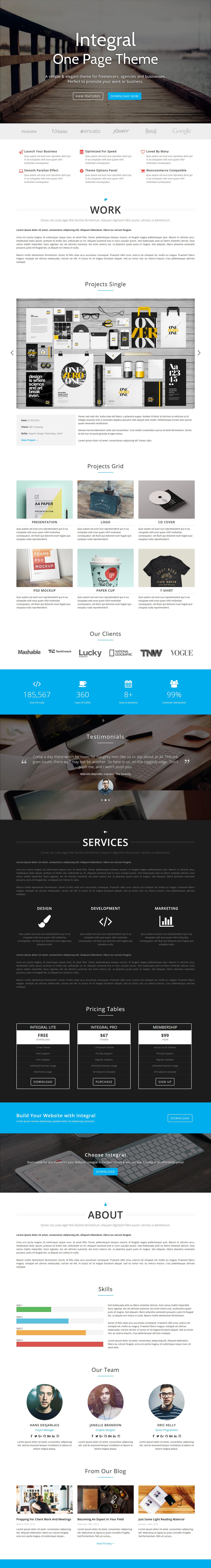 Integral - Mejor tema de WordPress de arquitectura gratis