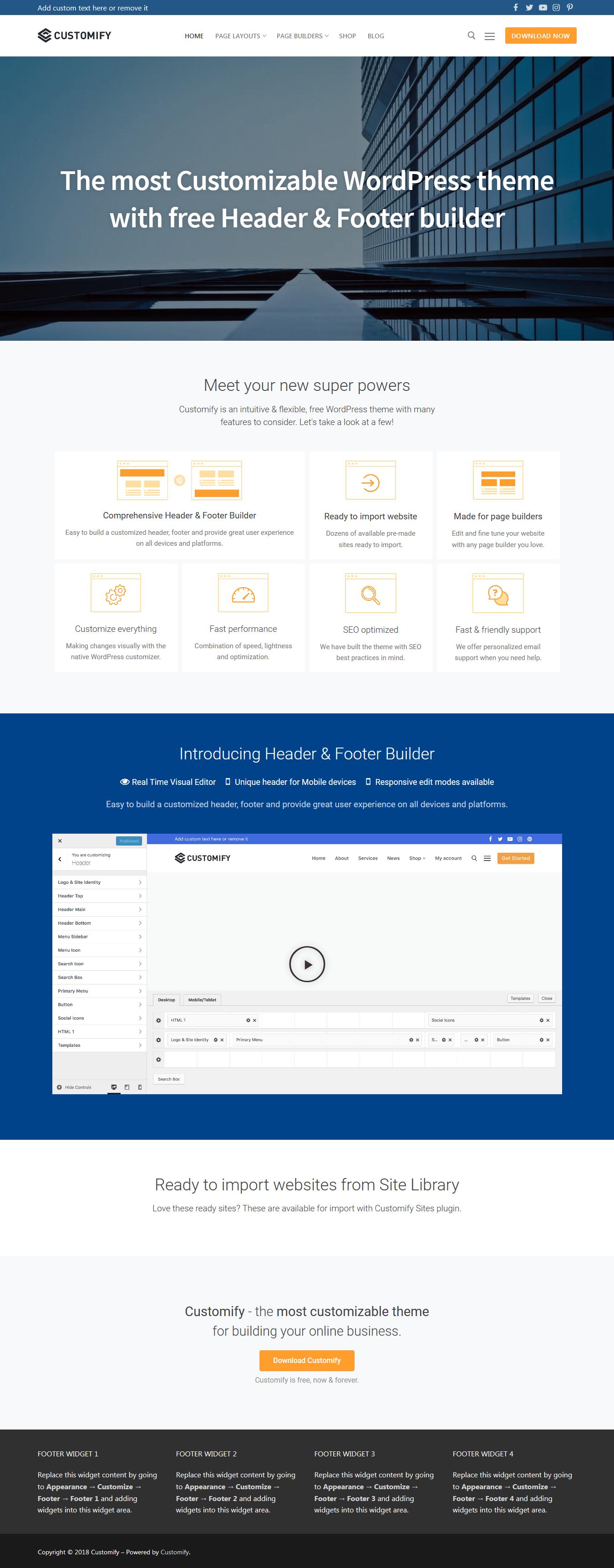 Personalizar: el mejor tema gratuito para WordPress de BuddyPress