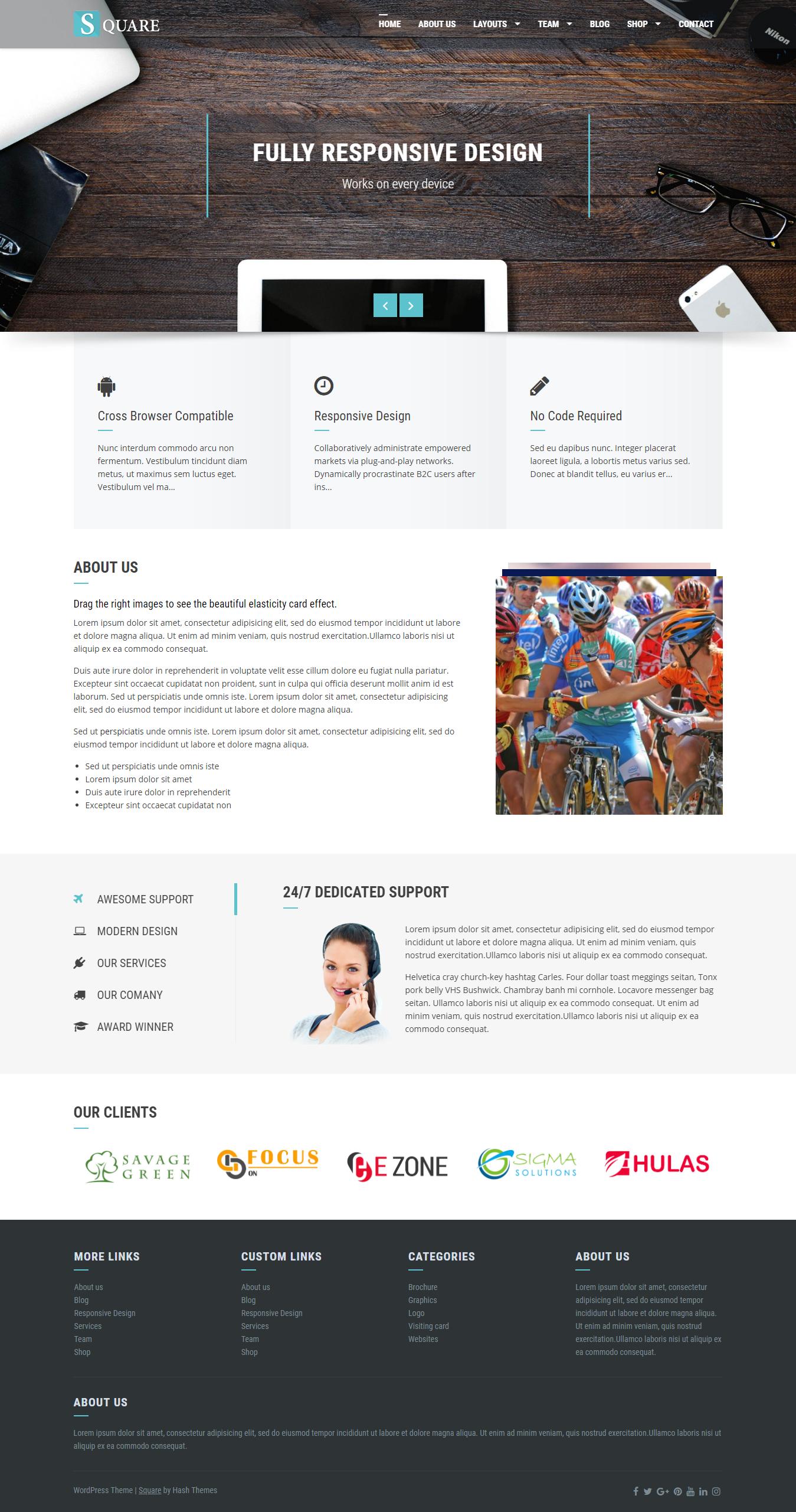 Square - El mejor tema gratuito de WordPress para BuddyPress