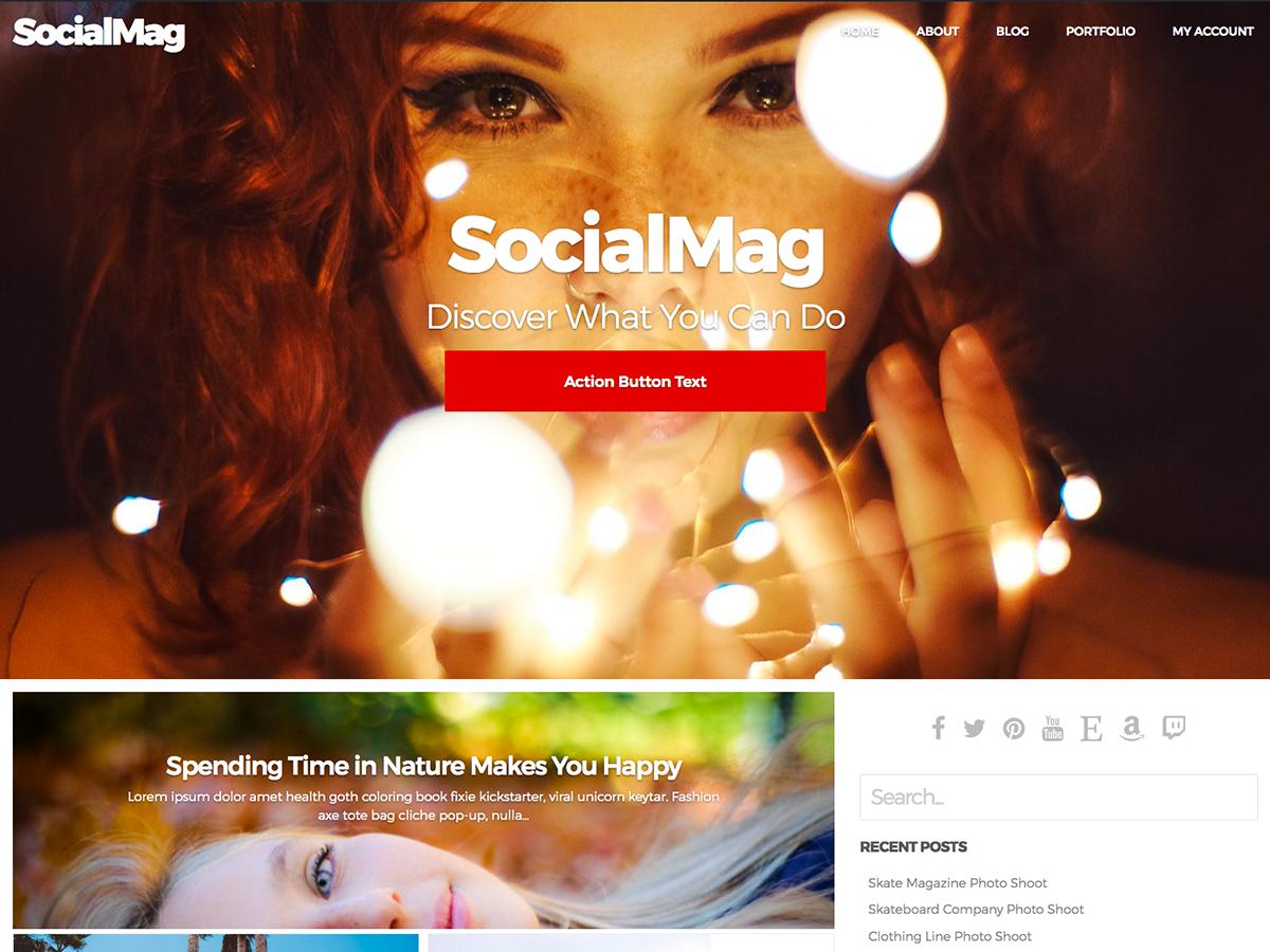 SocialMag: el mejor tema gratuito de WordPress para BuddyPress
