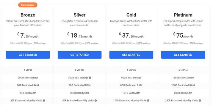 WPMU DEV Hosting ofrece cuatro planes.  Los precios de los planes son bastante razonables y WPMU DEV Hosting es una ganga considerando el valor que obtiene.