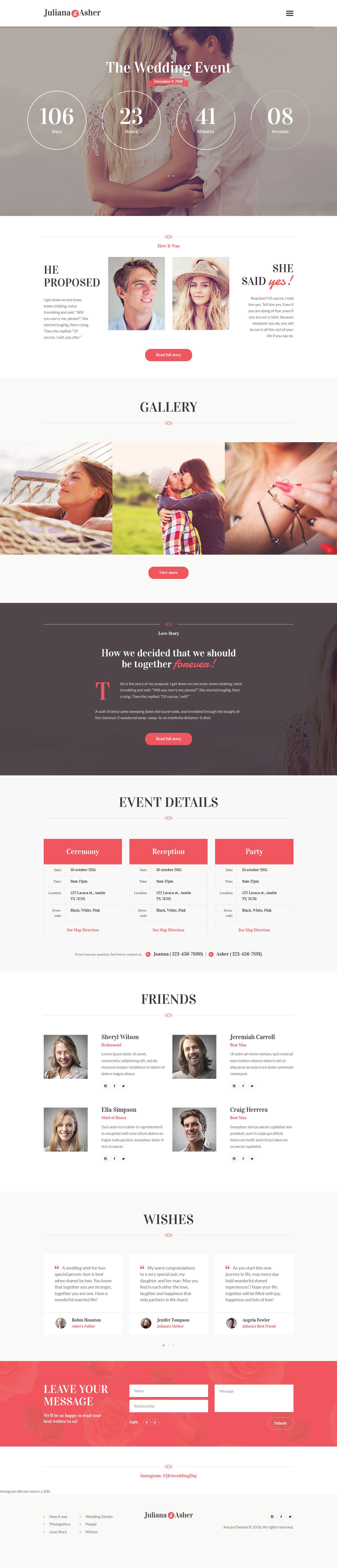 Día de la boda: el mejor tema de WordPress para eventos premium