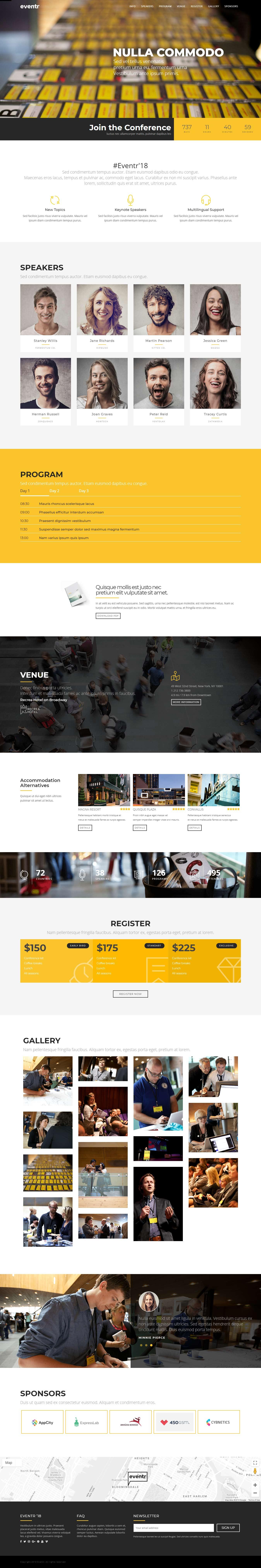 Eventr - Mejor tema de WordPress para eventos premium