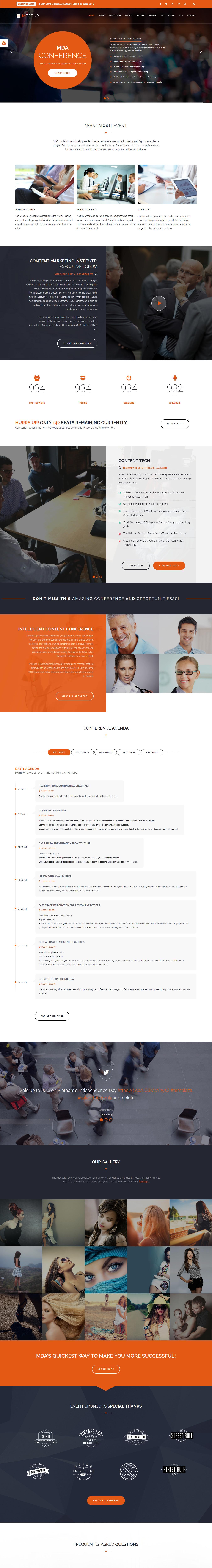 Meetup - Mejor tema de WordPress para eventos premium