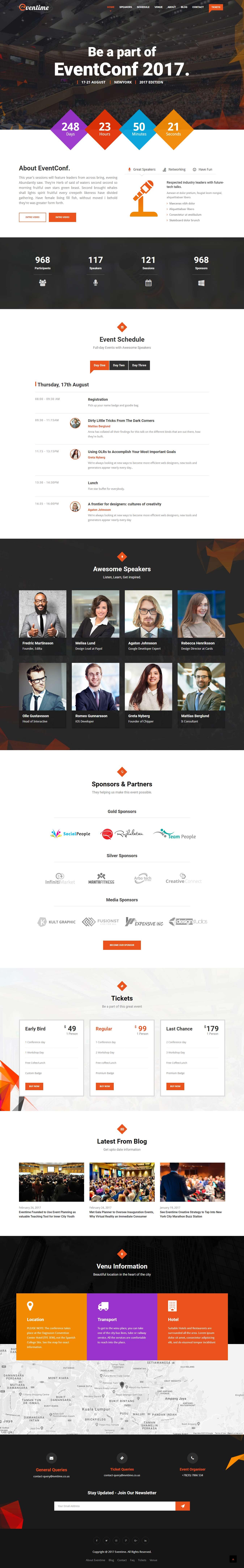Eventime - Mejor tema de WordPress para eventos premium