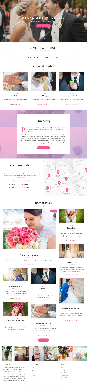Catch Wedding - El mejor tema gratuito de WordPress para bodas