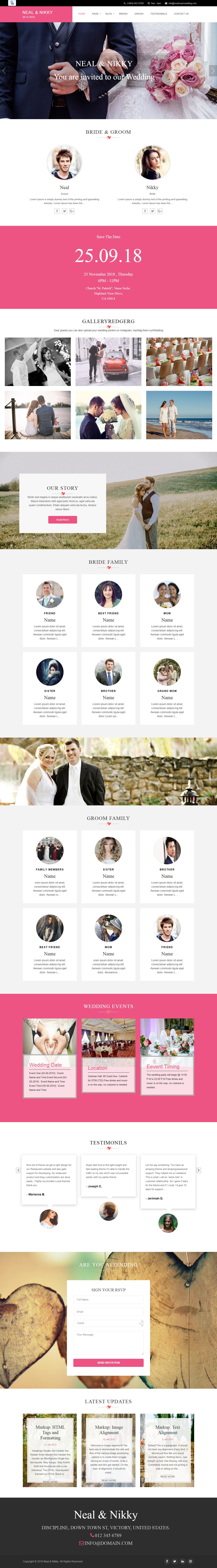 Vivah Royal Wedding - El mejor tema gratuito de WordPress para bodas