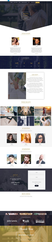 BB Wedding Bliss - El mejor tema gratuito de WordPress para bodas