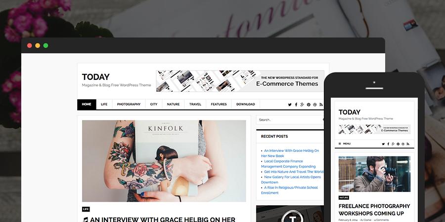 Today Blog & Magazine Tema gratuito de WordPress