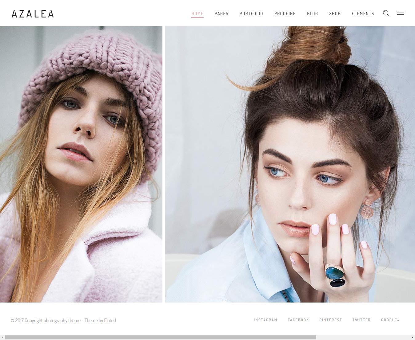 Azalea - Los mejores temas de WordPress de moda premium