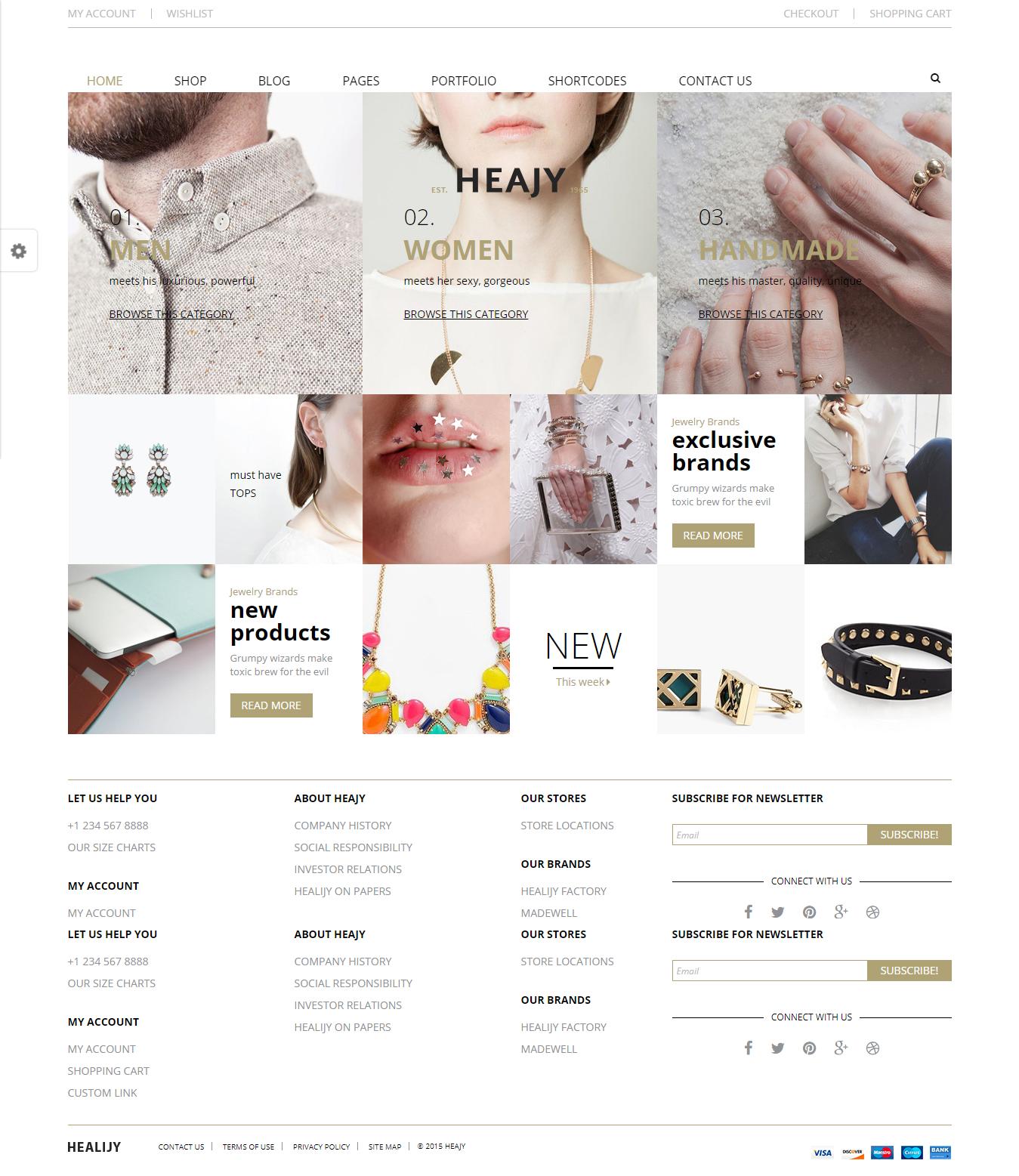 Heajy - Los mejores temas de WordPress de moda premium
