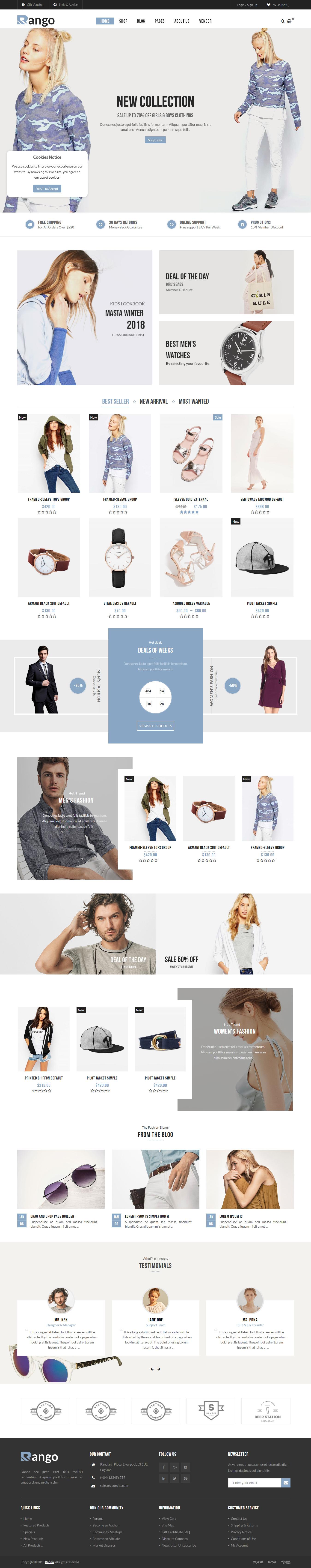 Rango - Los mejores temas de WordPress de moda premium