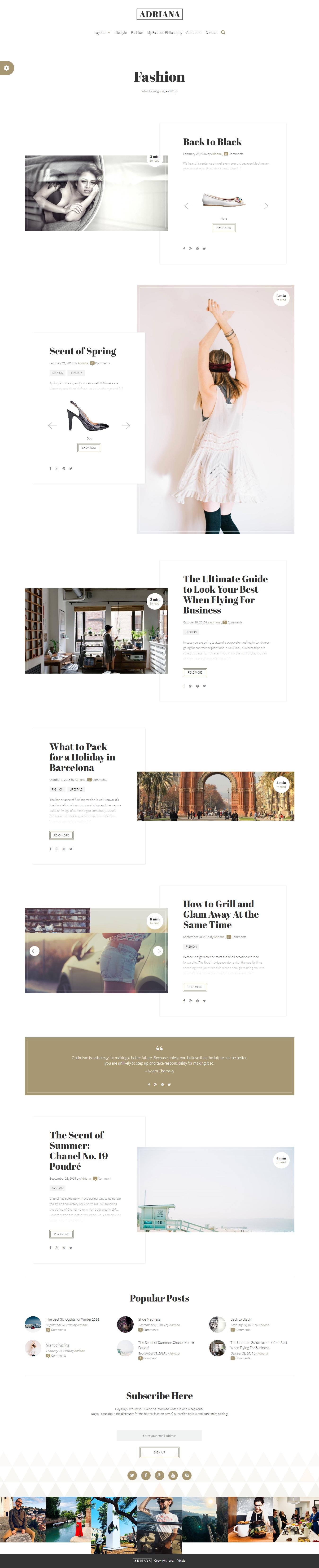 Adriana - Los mejores temas de WordPress de moda premium