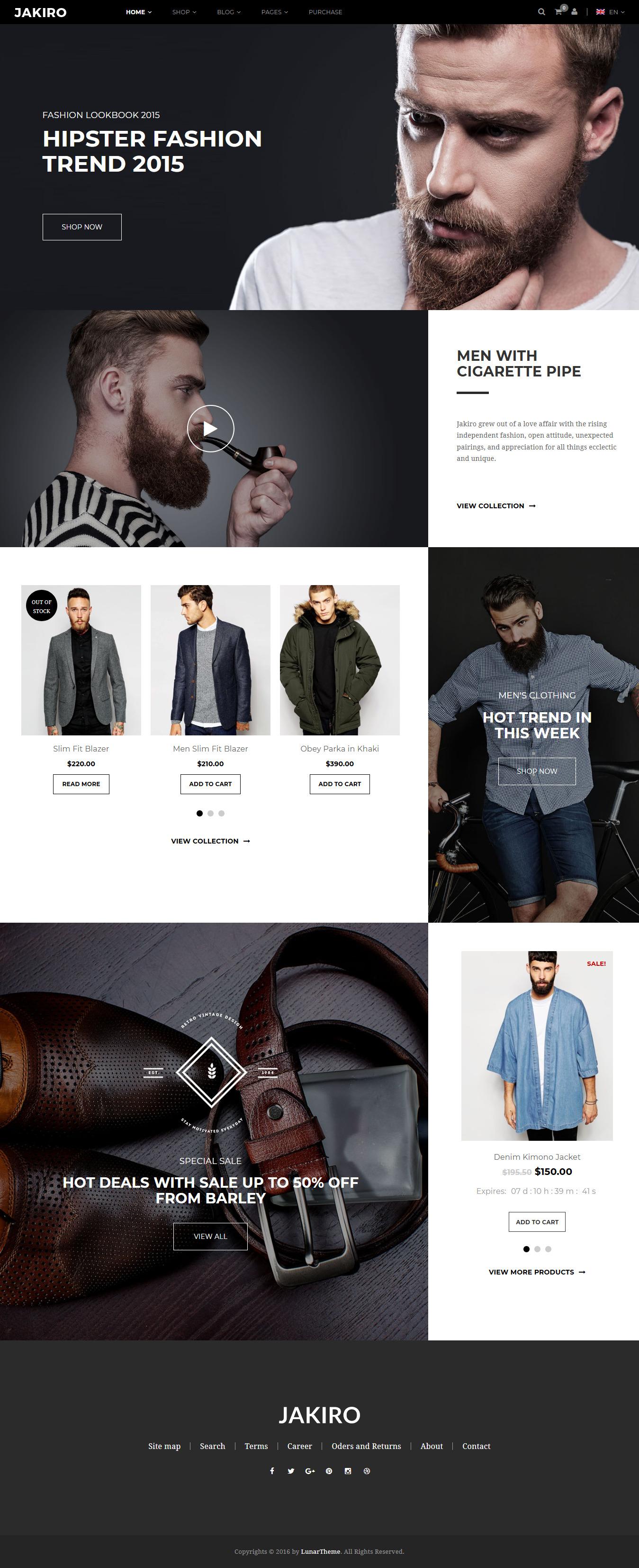 Jakiro - Los mejores temas de WordPress de moda premium