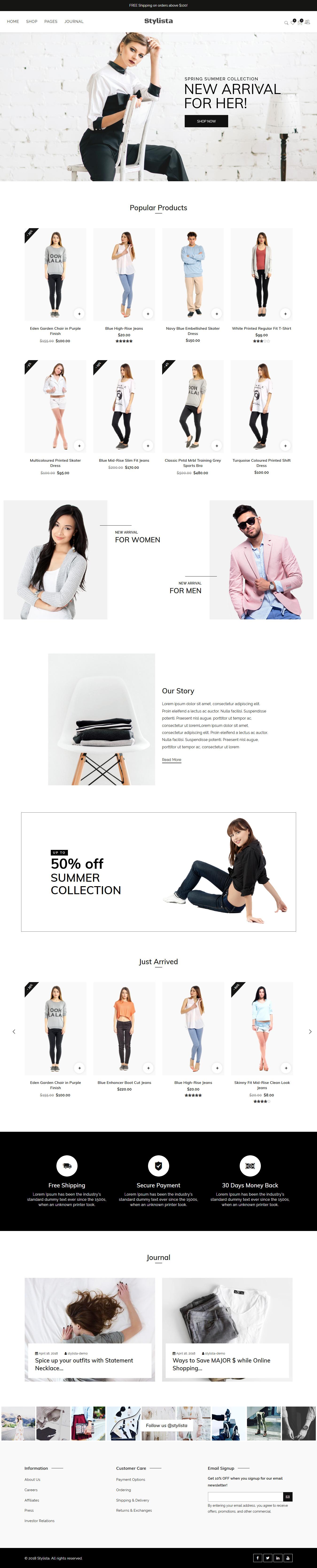 Stylista - Los mejores temas de WordPress de moda premium
