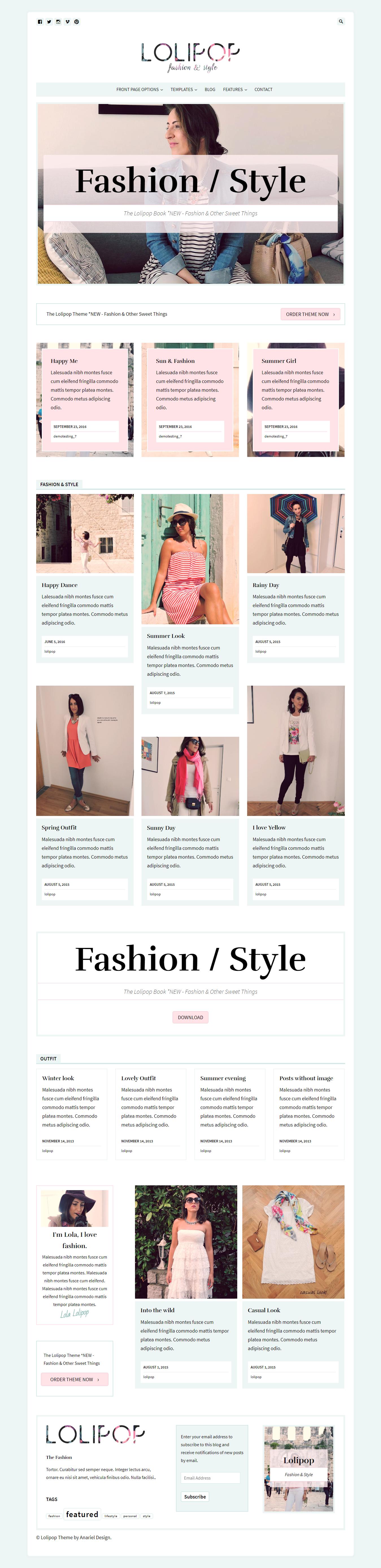 Lolipop - Los mejores temas de WordPress de moda premium