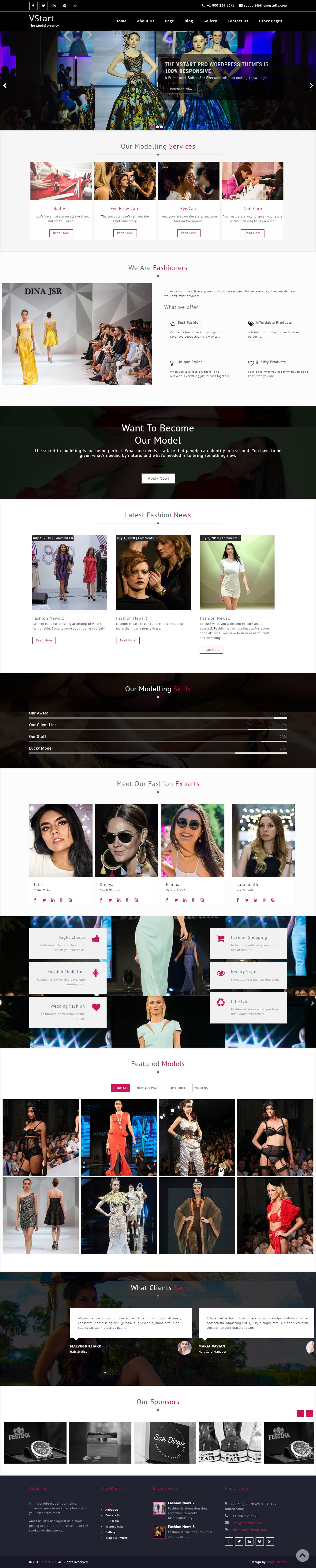 VStart - El mejor tema gratuito de WordPress de moda