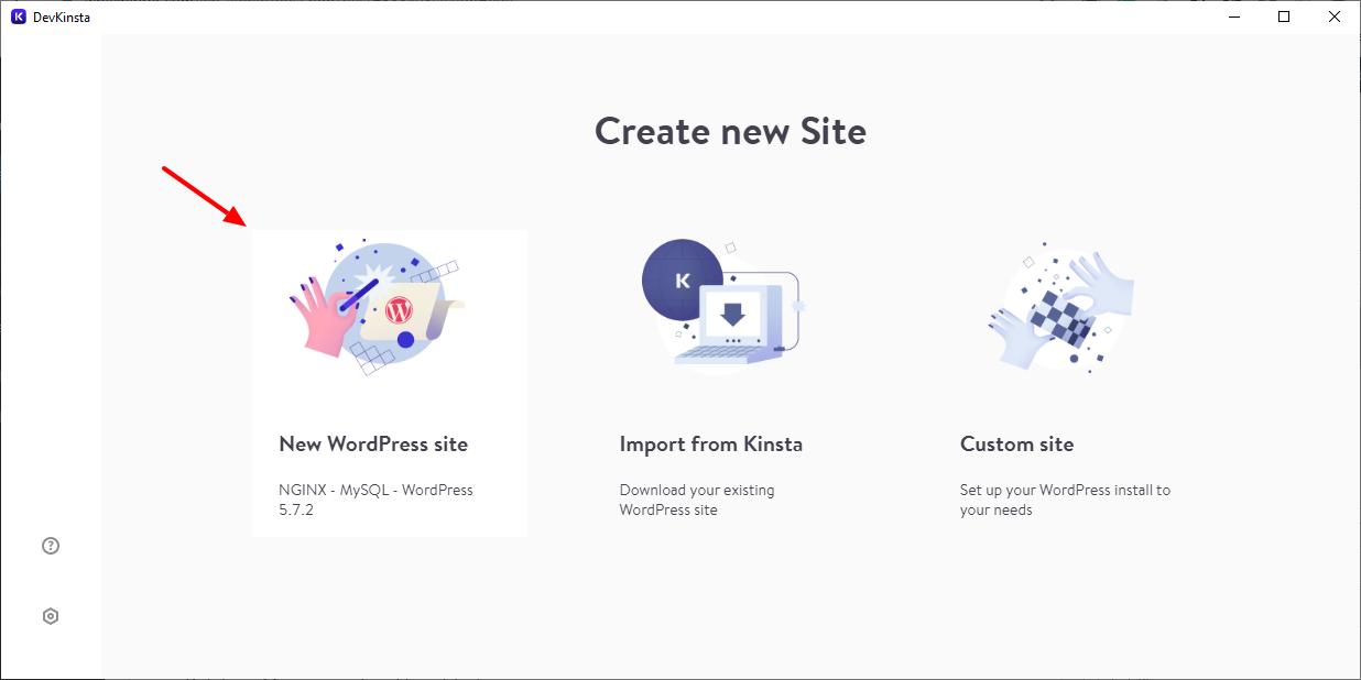 agregando un nuevo sitio de wordpress en devkinsta