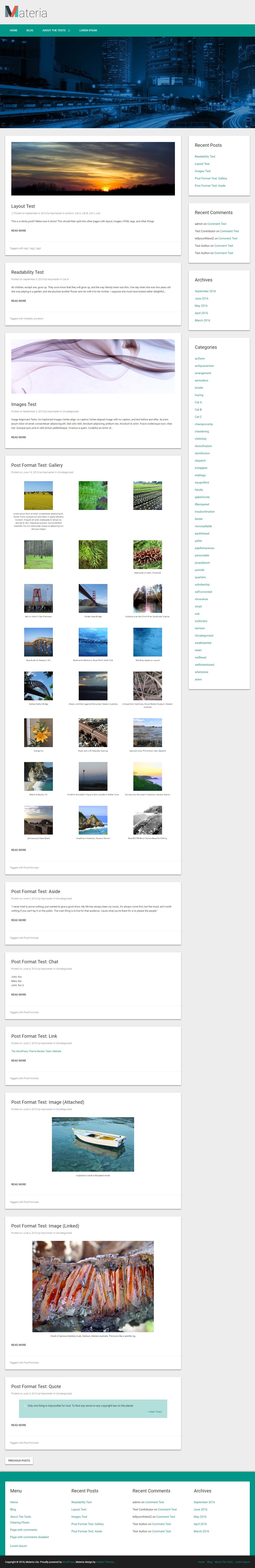 Materia Lite - Mejor tema de WordPress para diseño de materiales gratuito