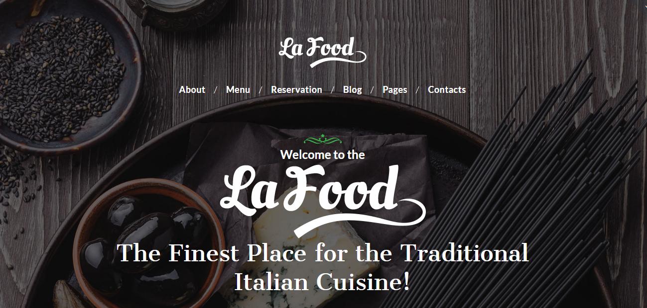 La Food - Los mejores temas de WordPress de comida premium para restaurantes
