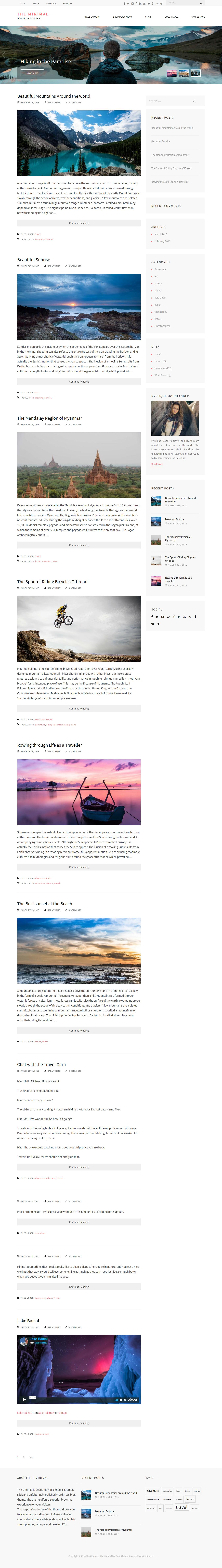 The Minimal: el mejor tema de WordPress minimalista gratuito