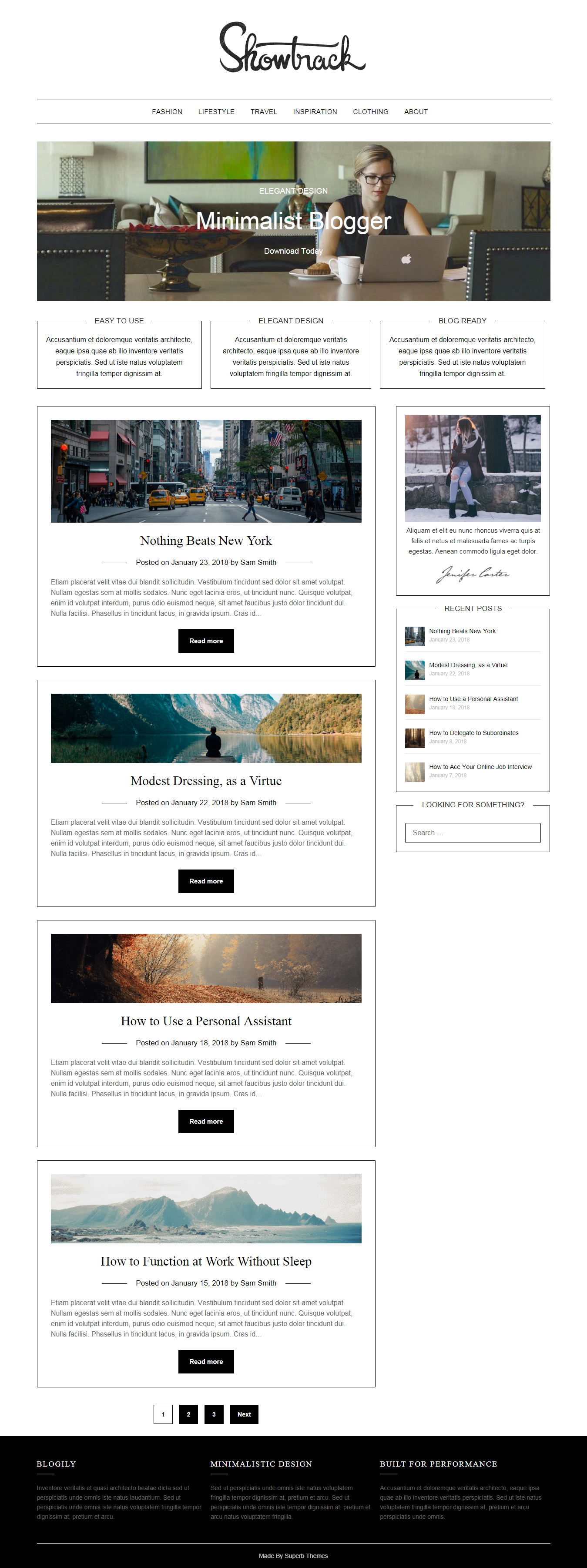 MinimalistBlogger - El mejor tema mínimo gratuito de WordPress