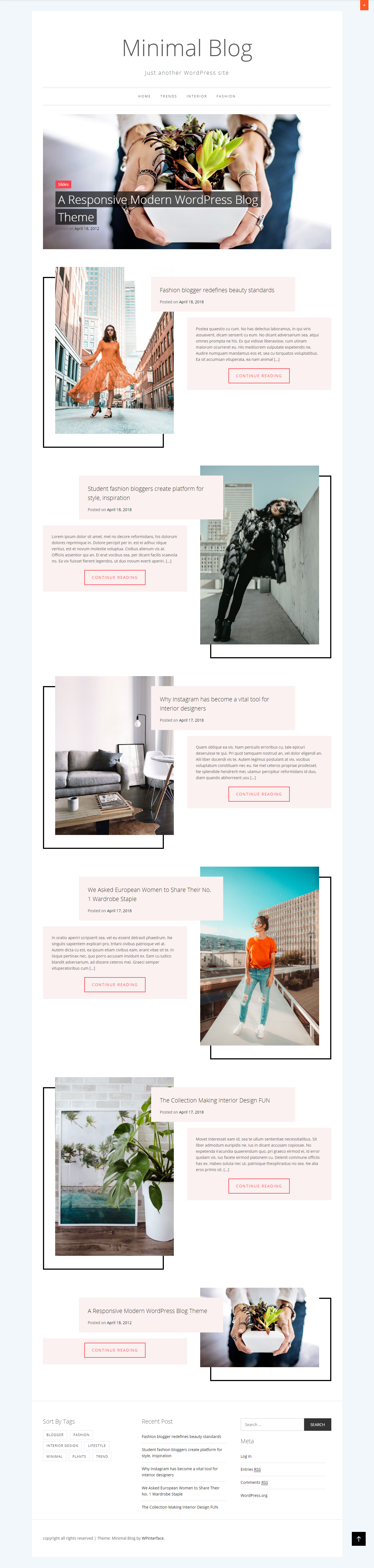 Minimal Blog - El mejor tema de WordPress minimalista gratuito