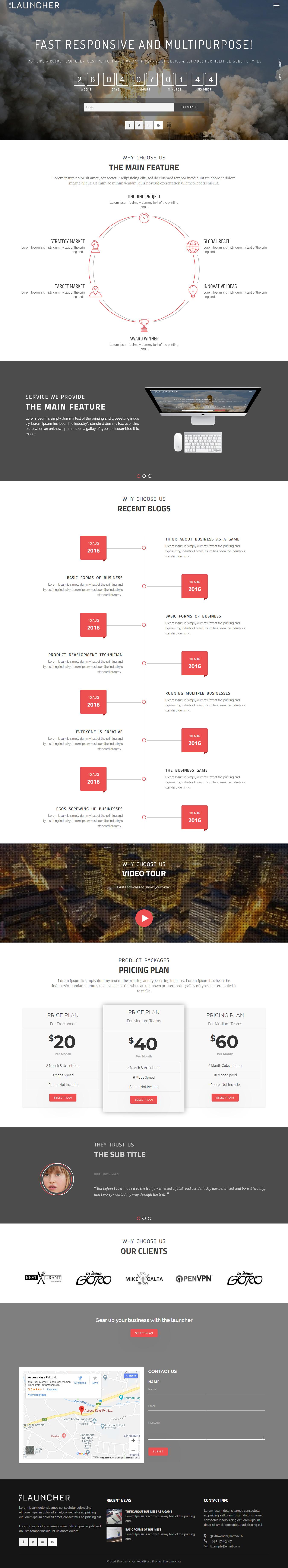 The Launcher: el mejor tema de WordPress multipropósito gratuito