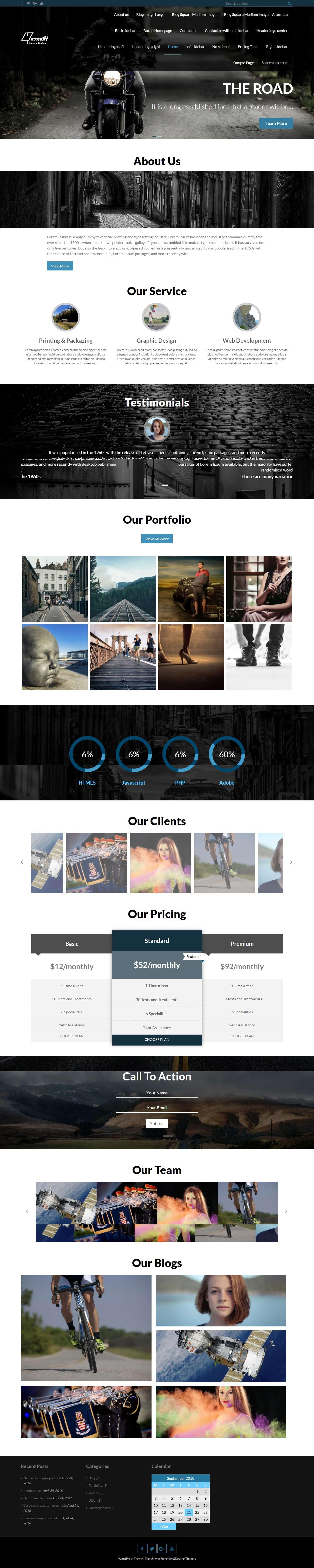 FortySeven Street - El mejor tema de WordPress multipropósito gratuito