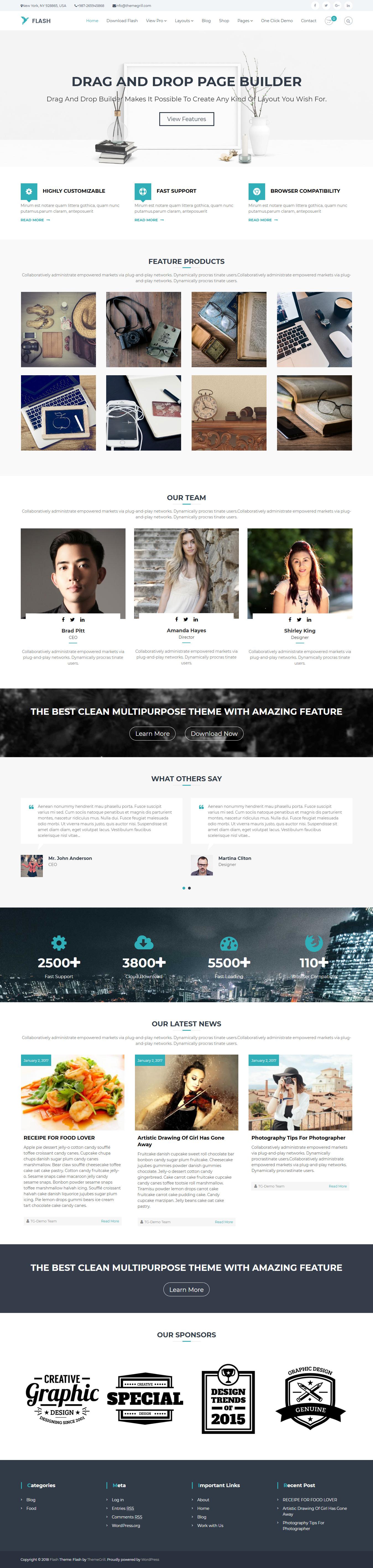 Flash: el mejor tema gratuito multipropósito de WordPress