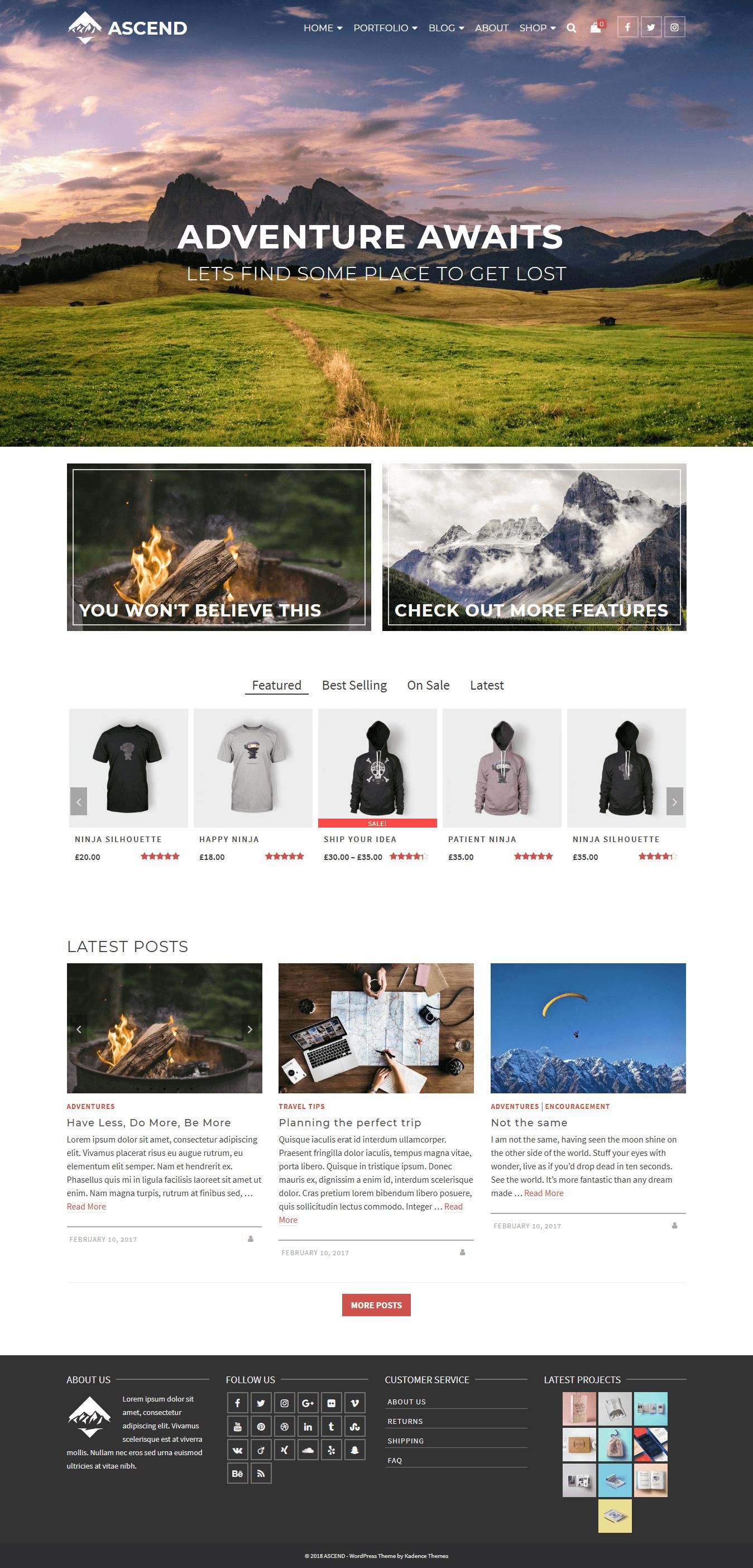 Ascend: el mejor tema gratuito multipropósito de WordPress