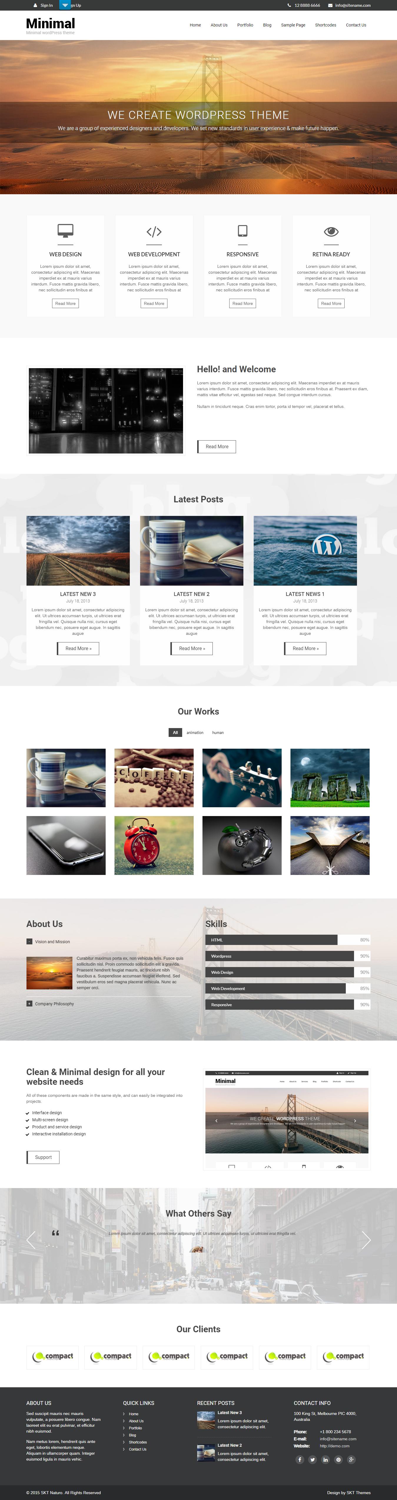Naturo Lite - El mejor tema de WordPress multipropósito gratuito