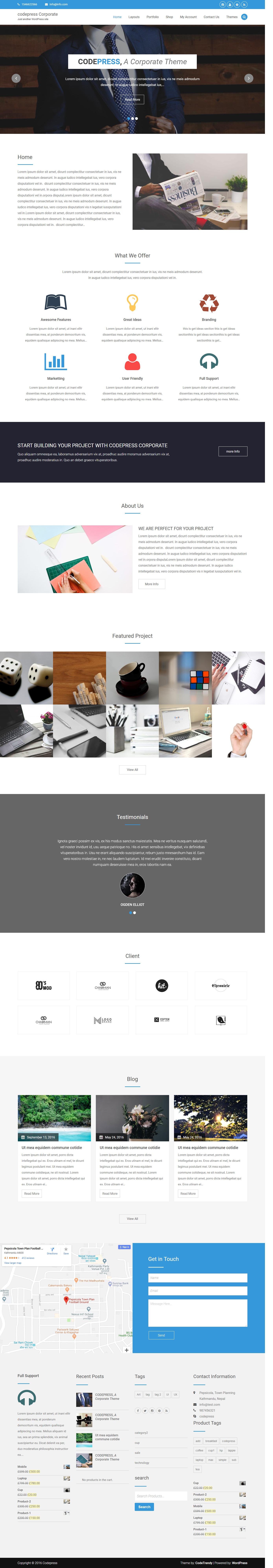 Codepress Corporate: el mejor tema de WordPress multipropósito gratuito