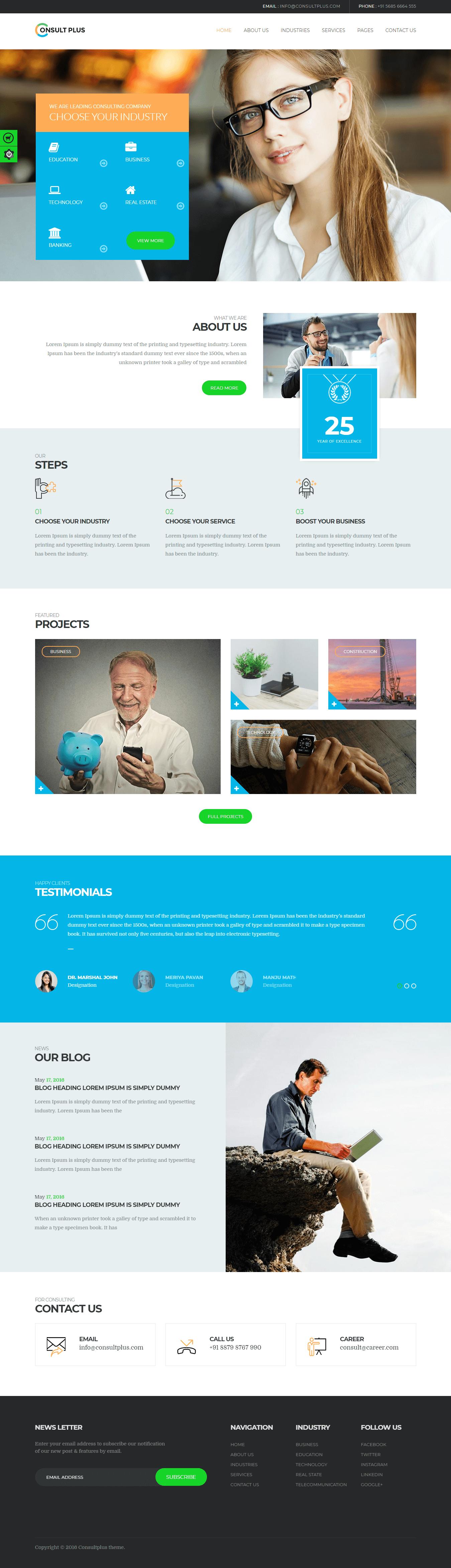 ConsultPlus - Mejor tema premium multipropósito de WordPress
