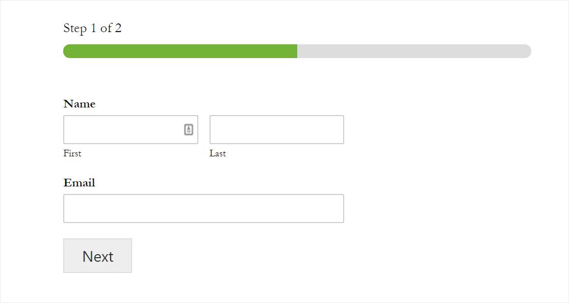 barra de progreso de migas de pan formularios de varios pasos