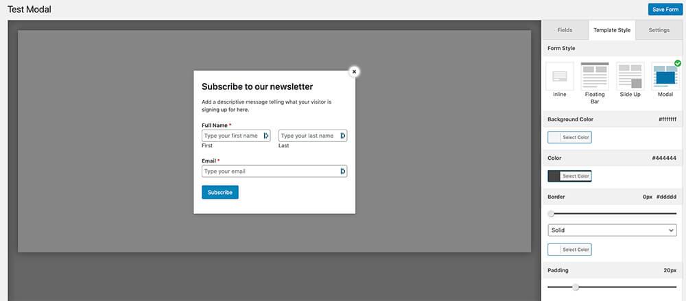 Personalización de formularios