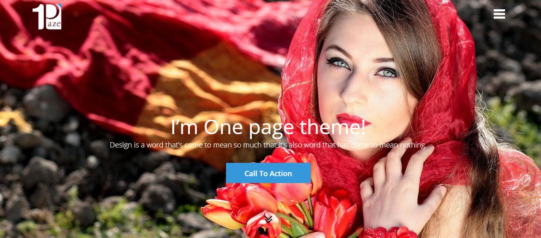 OnePaze: los mejores temas y plantillas gratuitos de WordPress de una página