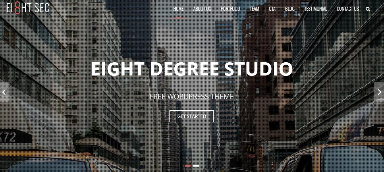 Eight Sec - Los mejores temas y plantillas gratuitos de WordPress de una página
