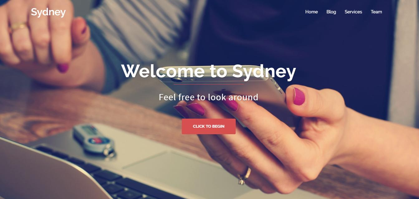 Sydney - Los mejores temas y plantillas gratuitos de WordPress de una página