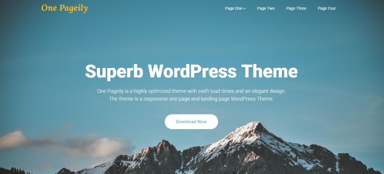 One Pageily: los mejores temas y plantillas gratuitos de WordPress de una página
