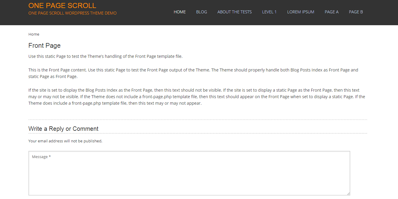 One Page Scroll: los mejores temas y plantillas gratuitos de WordPress de una página