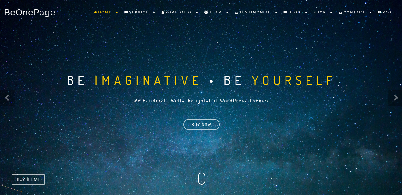 BeOnePage: los mejores temas y plantillas gratuitos de WordPress de una página